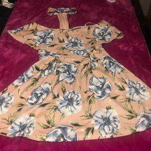Floral flare mini dress